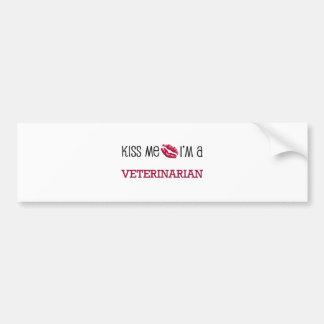 Kiss Me I'm a VETERINARIAN Car Bumper Sticker