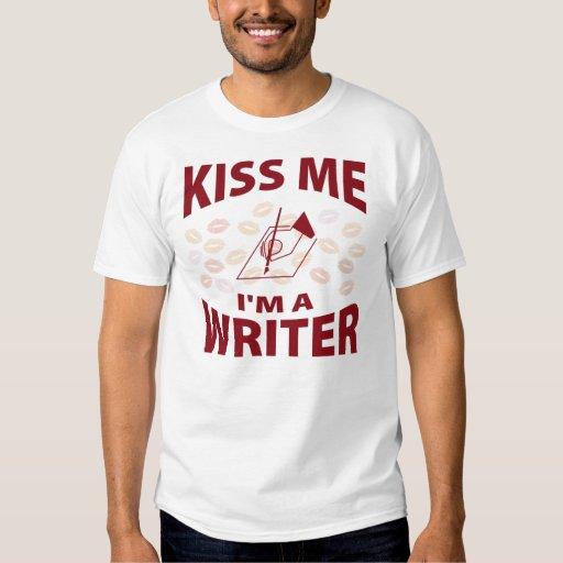 Kiss Me I'm A Writer Tees
