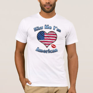 Kiss Me I'm American Flag T-Shirt - 4th of July