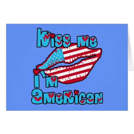 Kiss Me I'm American Products Card