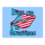 Kiss Me I'm American Products Post Card