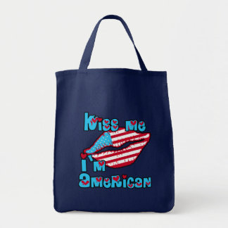 Kiss Me I'm American Products Tote Bag