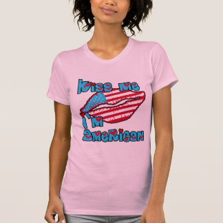 Kiss Me I'm American Products Tanks