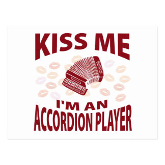 Kiss Me I'm An Accordion Player Postcards