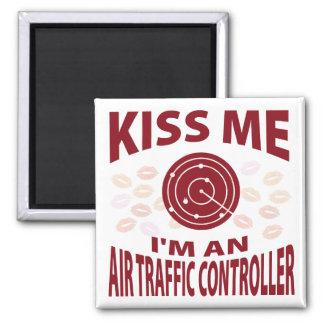 Kiss Me I'm An Air Traffic Controller Magnet