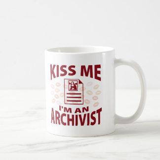 Kiss Me I'm An Archivist Coffee Mug