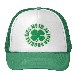 Kiss Me Im an Irish Goddess Trucker Hat