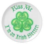 Kiss Me - I'm an Irish Setter Plates