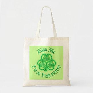 Kiss Me - I'm an Irish Setter! Tote Bag