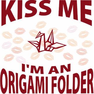 Kiss Me I'm An Origami Folder Photo Sculpture Ornament