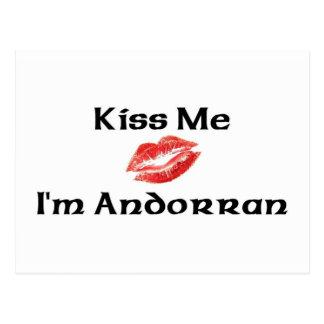 Kiss Me I'm Andorran Postcard