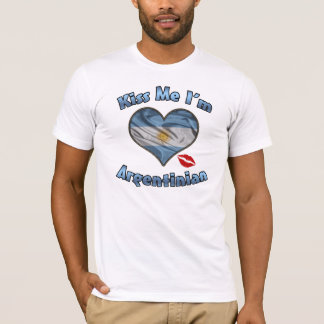 Kiss Me I'm Argentinian Flag T-Shirt - Flag Day