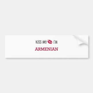 Kiss Me I'm ARMENIAN Bumper Sticker