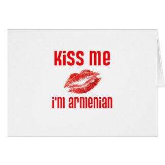 Kiss Me I'm Armenian Card