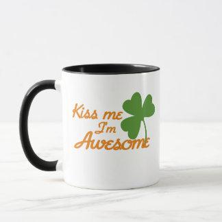 Kiss me I'm awesome Mug
