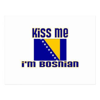 Kiss Me I'm Bosnian Postcard