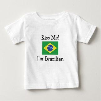 Kiss Me! I'm Brazilian Baby T-Shirt
