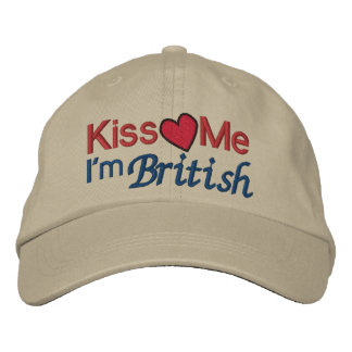 KISS Me I'm British by SRF Embroidered Hat
