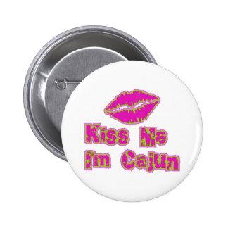 Kiss Me I'm Cajun 2 Inch Round Button