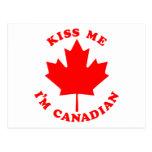 Kiss Me Im Canadian Postcard