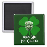 Kiss Me I'm Celtic Magnets