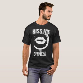 Kiss Me I'm Chinese Heritage Pride Lips T-Shirt