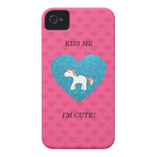 Kiss me I'm cute baby unicorn iPhone 4 Case-Mate Cases