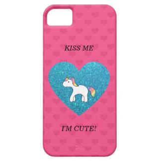 Kiss me I'm cute baby unicorn iPhone 5 Covers
