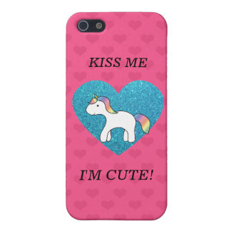Kiss me I'm cute baby unicorn Case For iPhone 5