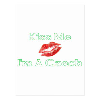 Kiss Me I'm Czech Postcard
