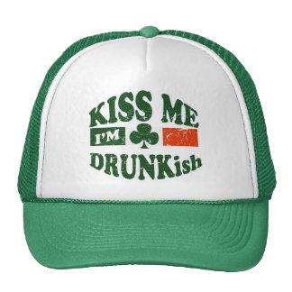 Kiss Me Im Drunkish Hats
