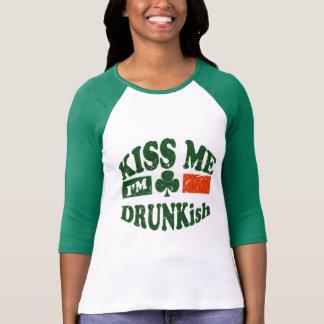 Kiss Me Im Drunkish Tee Shirt