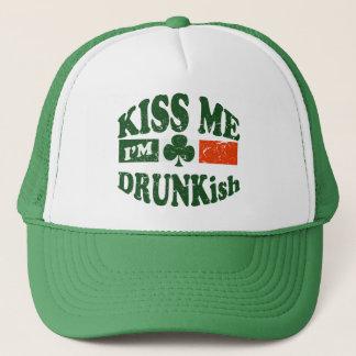 Kiss Me Im Drunkish Trucker Hat