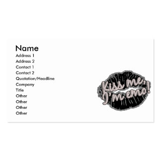 kiss me im emo business card template