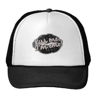 kiss me im emo trucker hat