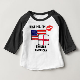 Kiss Me I'm English American Baby T-Shirt