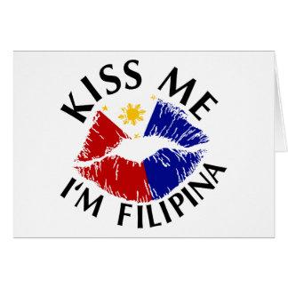 Kiss Me I'm Filipina Card