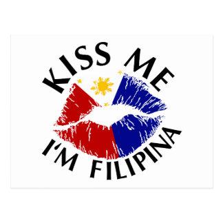 Kiss Me I'm Filipina Postcard