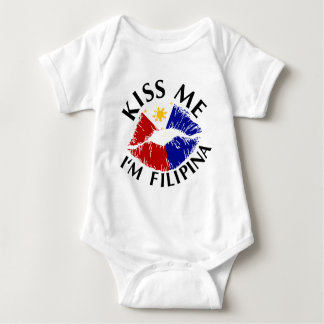 Kiss Me I'm Filipina Tee Shirts