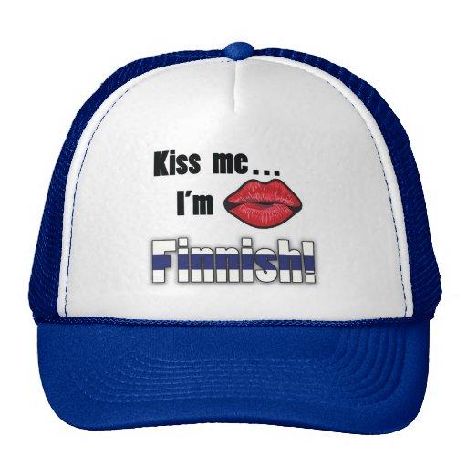 Kiss me I'm Finnish Trucker Hats
