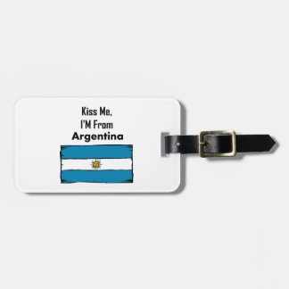 Kiss Me, I'M From Argentina Tags For Bags
