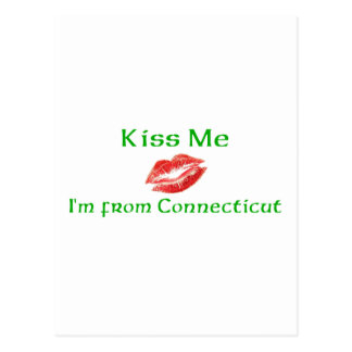 Kiss Me I'm from Connecticut Postcard