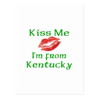 Kiss Me I'm from Kentucky Postcard