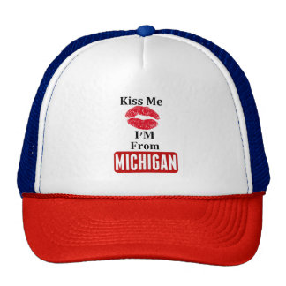 Kiss Me, I'M From Michigan Trucker Hat