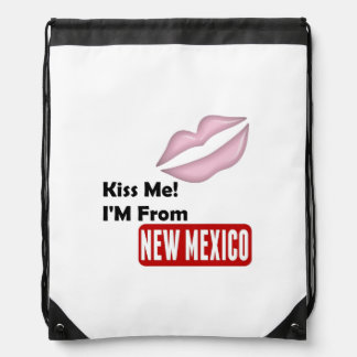 Kiss Me, I'M From New Mexico Drawstring Backpack