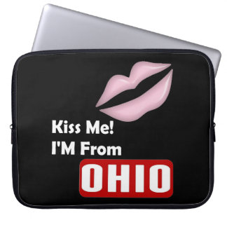 Kiss Me, I'M From Ohio Computer Sleeve