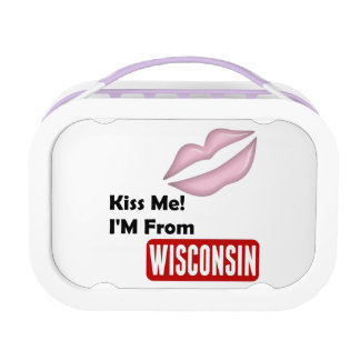 Kiss Me, I'M From Wisconsin Lunch Box