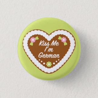 Kiss Me I'm German Gingerbread Heart Button