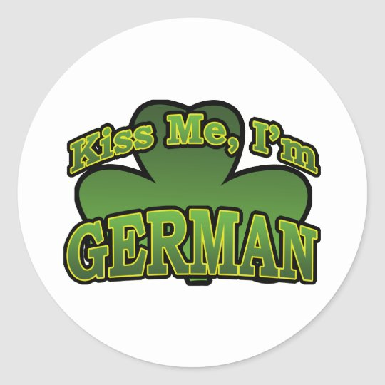 Kiss Me I'm German Sticker