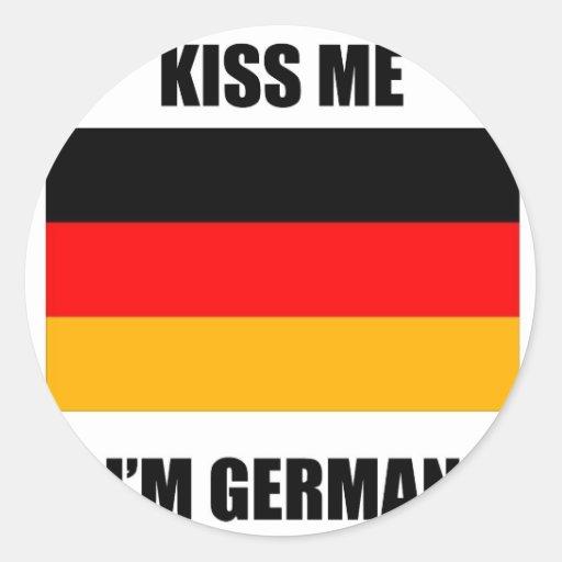 Kiss Me I'm German Stickers